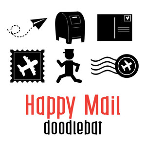 happy mail doodlebat