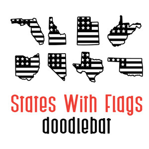 states with flags doodlebat