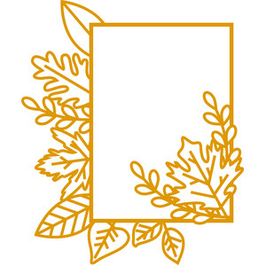 5x7 fall leaves frame