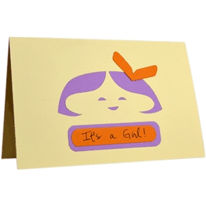 """little bow peep"" (solo) folded note card"