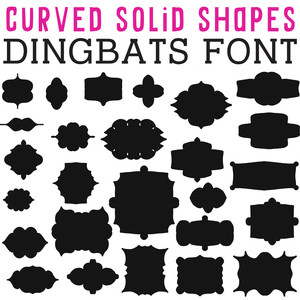 cg curved solid shapes dingbats
