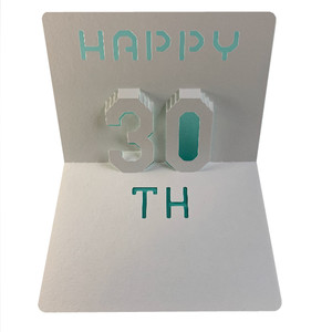 happy 30th popup card