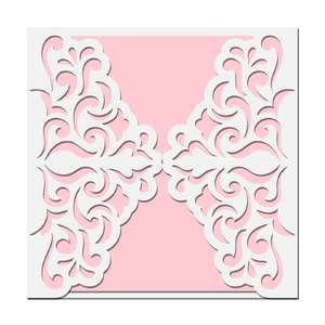 damask gate fold card