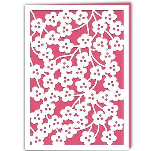 spring blossom lace card