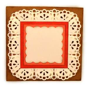 rosette lace square box pleat