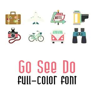 go see do color font