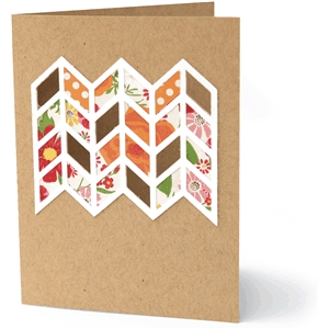 'chevron' card