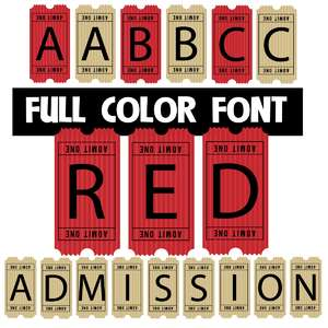 admission red color font