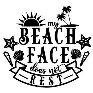 beach face does not rest