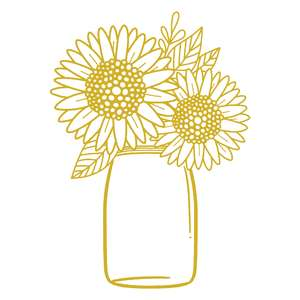 sunflower mason jar