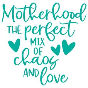 motherhood the perfect mix of chaos & love