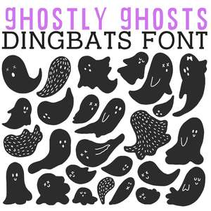 cg ghostly ghosts dingbats