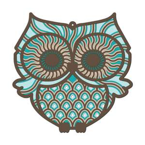 multi layer mandala owl