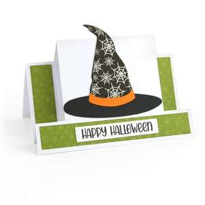 center step card witch hat