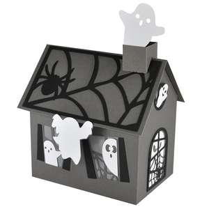 ghost house spooktown village lantern