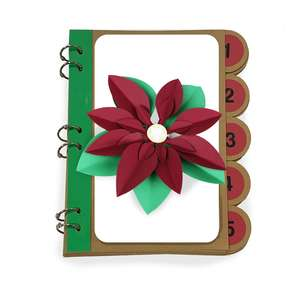 25 days of christmas 6 x 9 album poinsettia