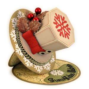 top hat snowflake 3d easel card