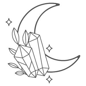 crystal and moon