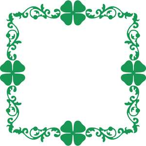 shamrocks square frame