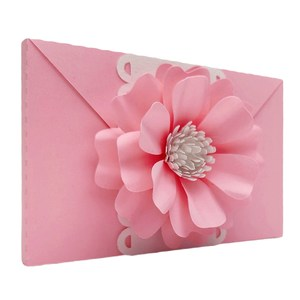 envelope 3d decorative flowers