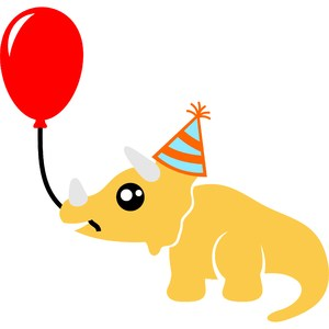 triceratops happy birthday
