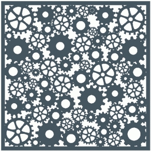 cogs & gears template / background / stencil