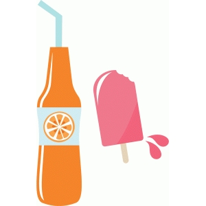 orange soda and popsicle
