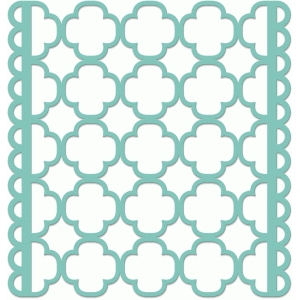 scalloped quatrefoil screen