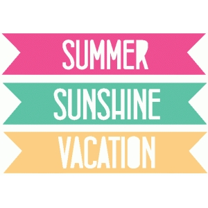 set of 3 summer vacation word tags