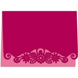 flower swirl card