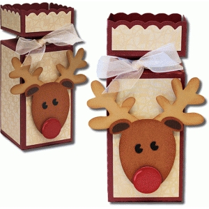 3d decorative reindeer box