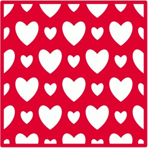square heart background