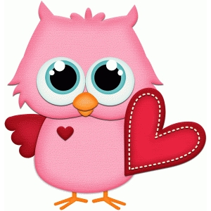 owl holding valentine heart pnc