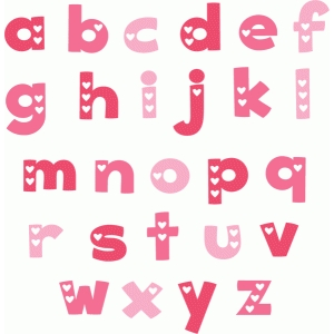 valentine monograms lowercase