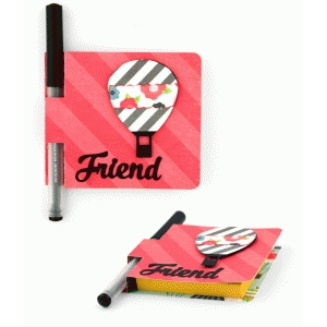 sticky note cover: friend hot air balloon