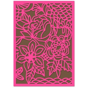 scallop floral lace card