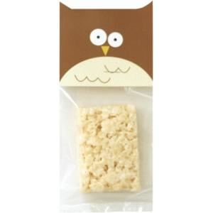 owl treat bag topper