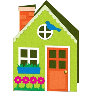 detailed house card kit