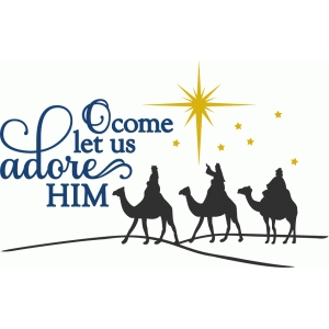 o come let us adore him - phrase
