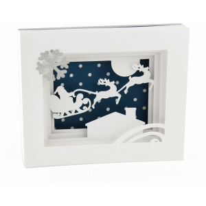 5x7 sleigh shadow box card