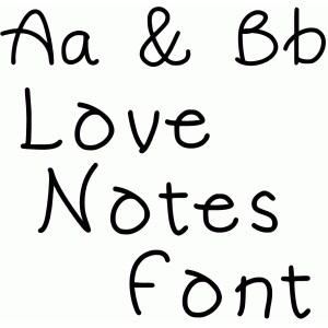 love notes font
