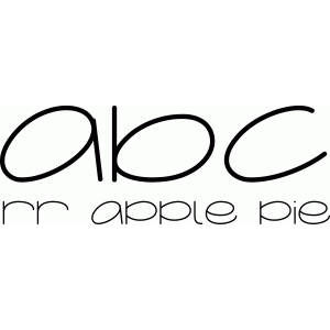 apple pie font