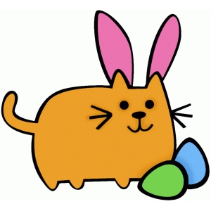 fat easter cat