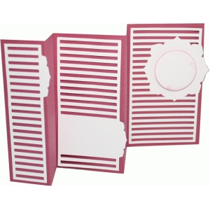 accordion fold card - horizontal stripe