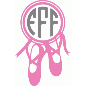 ballet shoes monogram