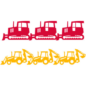 construction tractors borders
