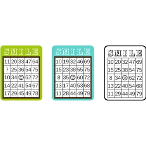 bingo sheet set - smile