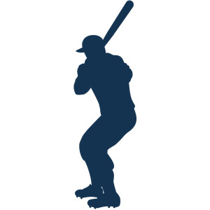 batter up silhouette