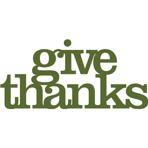 'give thanks' phrase
