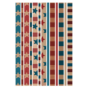 4th of july vintage washi tape stickers planning